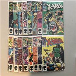 "Lot of (16) 1984-1986 Marvel ""Uncanny X-Men"" 1st Series Comic Books with #178-205, Annual #5, #7, #8"