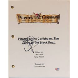 "Orlando Bloom Signed ""Pirates of the Caribbean: The Curse of the Black Pearl"" Movie Script (PSA COA)"