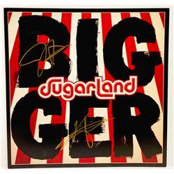 "Kristian Bush  Jennifer Nettles Signed Sugarland ""Bigger"" LP Insert (JSA COA)"