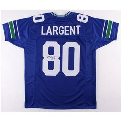 """Steve Largent Signed Seattle Seahawks Jersey Inscribed """"HOF 95"""" (JSA COA)"""