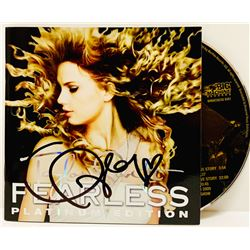 """Taylor Swift Signed """"Fearless"""" CD Cover with """"Fearless"""" Box Set (JSA COA)"""