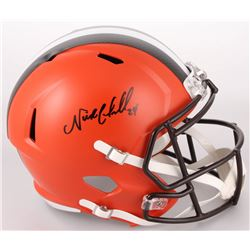 Nick Chubb Signed Cleveland Browns Full-Size Authentic On-Field Speed Helmet (JSA COA)