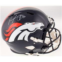 Phillip Lindsay Signed Denver Broncos Full-Size Authentic On-Field Speed Helmet (JSA COA)