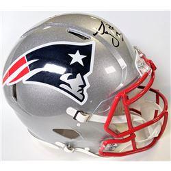 Sony Michel Signed New England Patriots Full-Size Authentic On-Field Speed Helmet (Beckett COA)