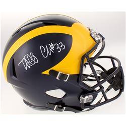 Taco Charlton Signed Michigan Wolverines Full-Size Speed Helmet (Beckett COA)