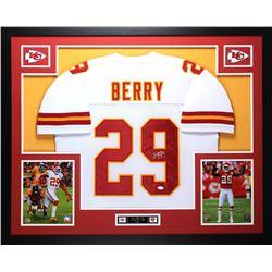 Eric Berry Signed Kansas City Chiefs 35x43 Custom Framed Jersey Display (JSA COA)