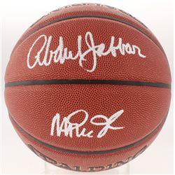 Magic Johnson  Kareem Abdul-Jabbar Signed Basketball (Schwartz COA)