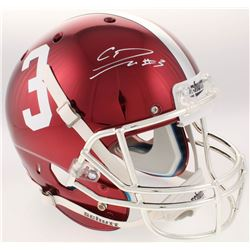 Calvin Ridley Signed Alabama Crimson Tide Full-Size Custom Red Chrome Helmet (Radtke COA)