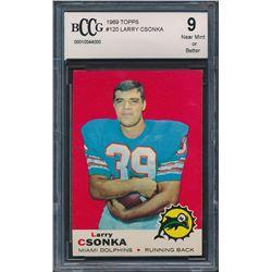 1969 Topps #120 Larry Csonka RC (BCCG 9)