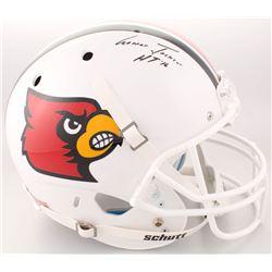 "Lamar Jackson Signed Louisville Cardinals Full-Size Helmet Inscribed ""HT '16"" (Schwartz Sports COA)"