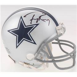 Tony Romo Signed Dallas Cowboys Mini Helmet (Beckett COA)