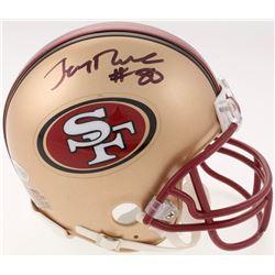 Jerry Rice Signed San Francisco 49ers Mini Helmet (Beckett COA)