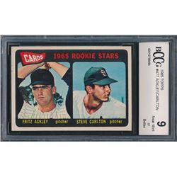 1965 Topps #477 Rookie Stars / Fritz Ackley / Steve Carlton RC (BCCG 9)