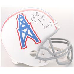 """Earl Campbell Signed Houston Oilers Full-Size Helmet Inscribed """"HT 77""""  """"HOF 91"""" (JSA COA)"""