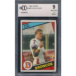 1984 Topps #63 John Elway RC (BCCG 9)