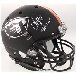 "Chad Johnson Signed Oregon State Beavers Full-Size Matte Black Helmet Inscribed ""OchoCinco"" (Radtke"