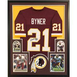 Earnest Byner Signed Washington Redskins 34x42 Custom Framed Jersey (JSA COA)