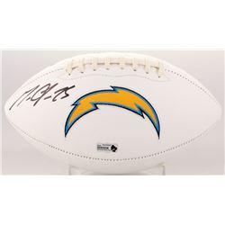 Melvin Gordon Signed Los Angeles Chargers Logo Football (Radtke COA)