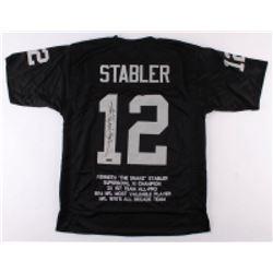 """Ken """"Snake"""" Stabler Signed Oakland Raiders Career Highlight Stat Jersey (Radtke Hologram)"""