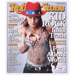 "Kid Rock Signed ""Rolling Stone"" 10x11.75 Magazine Cover Page (PSA COA)"