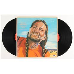 "Willie Nelson Signed ""Greatest Hits ( Some That Will Be)"" Vinyl Record Album Cover (PSA COA)"