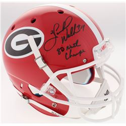 Herschel Walker Signed Georgia Bulldogs Full-Size Helmet Inscribed  80 Natl Champs  (Beckett COA)