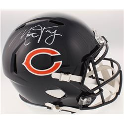 Mitch Trubisky Signed Chicago Bears Full-Size Speed Helmet (Fanatics Hologram)