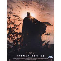"Christian Bale Signed ""Batman Begins"" 11x14 Photo (Beckett COA)"