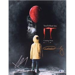 """Bill Skarsgard  Andy Muschietti Signed """"IT"""" 11x14 Photo (Beckett COA)"""