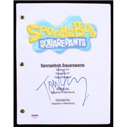 "Tom Kenny Signed ""SpongeBob SquarePants: Help Wanted"" Episode Script (PSA COA)"