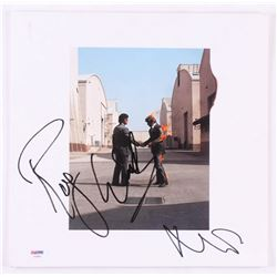 "Roger Waters  Nick Mason Signed Pink Floyd ""Wish You Were Here"" Vinyl Record Album Cover (PSA LOA)"