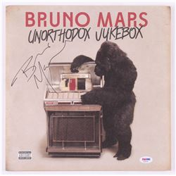 "Bruno Mars Signed ""Unorthodox Jukebox"" Vinyl Record Album Cover (PSA COA)"