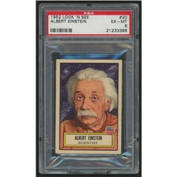1952 Look 'n See #20 Albert Einstein (PSA 6)
