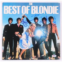 "Blondie ""The Best of Blondie"" Vinyl Record Album Cover Signed by (6) With Debbie Harry, Chris Stein,"