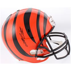 Joe Mixon Signed Cincinnati Bengals Full-Size Helmet (Schwartz Sports COA)