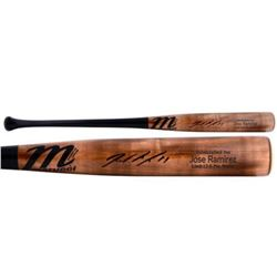 Jose Ramirez Signed Marucci Player Model Lindy 12-5 Baseball Bat (Fanatics Hologram  MLB Hologram)