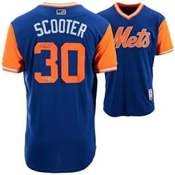 "Michael Conforto Signed ""Scooter"" New York Mets Jersey (Fanatics Hologram)"