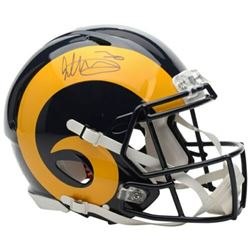 Todd Gurley Signed Los Angeles Rams Full-Size Authentic On-Field Helmet (Fanatics Hologram)