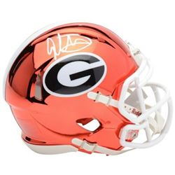 Todd Gurley Signed Georgia Bulldogs Chrome Mini Speed Helmet (Fanatics Hologram)