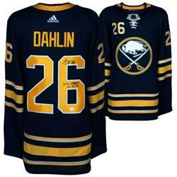 "Rasmus Dahlin Signed Buffalo Sabres Jersey Inscribed ""NHL Debut 10/4/18"" (Fanatics Hologram)"