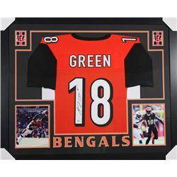 A. J. Green Signed Bengals 35x43 Custom Framed Jersey (Beckett COA)