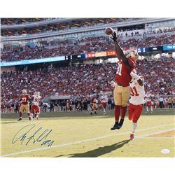 Anquan Boldin Signed San Francisco 49ers 16x20 Photo (JSA COA)