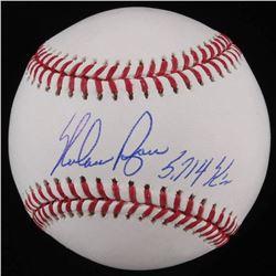 "Nolan Ryan Signed OML Baseball Inscribed ""5,714 K's"" (AI Verified COA  Ryan Hologram)"