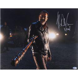 "Jeffrey Dean Morgan Signed ""The Walking Dead"" 16x20 Photo Inscribed ""Negan"" (Beckett COA)"