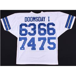"""Dallas Cowboys """"Doomsday 1"""" Jersey Signed by (4) with Bob Lilly, Jethro Pugh, George Andrie (JSA COA"""
