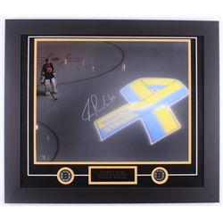 Tuukka Rask Signed Bruins 23x27 Custom Framed Photo Display (Rask Hologram)