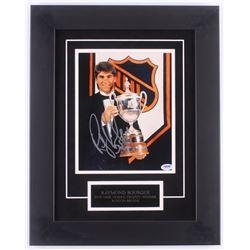 Ray Bourque Signed Boston Bruins 15x19 Custom Framed Photo Display (PSA COA)