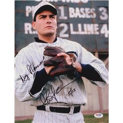 """Charlie Sheen Signed LE """"Eight Men Out"""" 11x14 Photo Inscribed """"My Pleasure"""" (PSA COA)"""