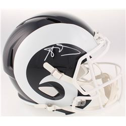 Aaron Donald Signed Los Angeles Rams Full-Size Speed Helmet (JSA COA)