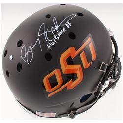 "Barry Sanders Signed Oklahoma State Cowboys Full-Size Helmet Inscribed ""Heisman 88"" (Schwartz Sports"